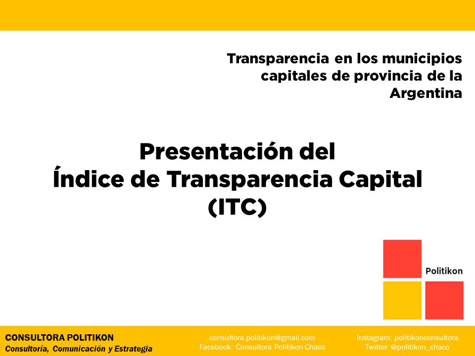 Resistencia, pese a ubicarse séptimo en el ranking nacional, muestra bajos niveles de transparencia en la gestión pública municipal