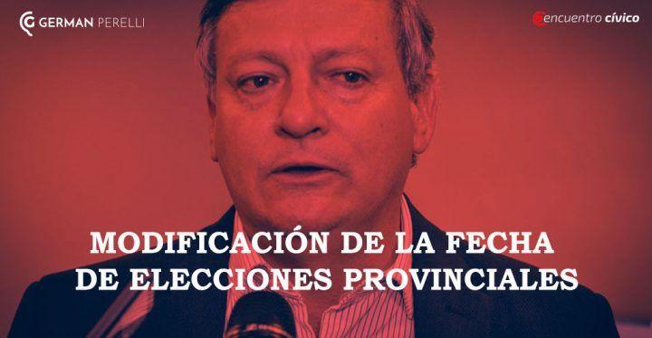 Modificación de la fecha de Elecciones Provinciales
